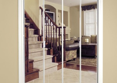 Framed-Bifold-MIrror-Door